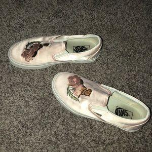 34e95f60828 Vans Shoes - New Vans Slip On Dx Souvenir Pink Silk Vans